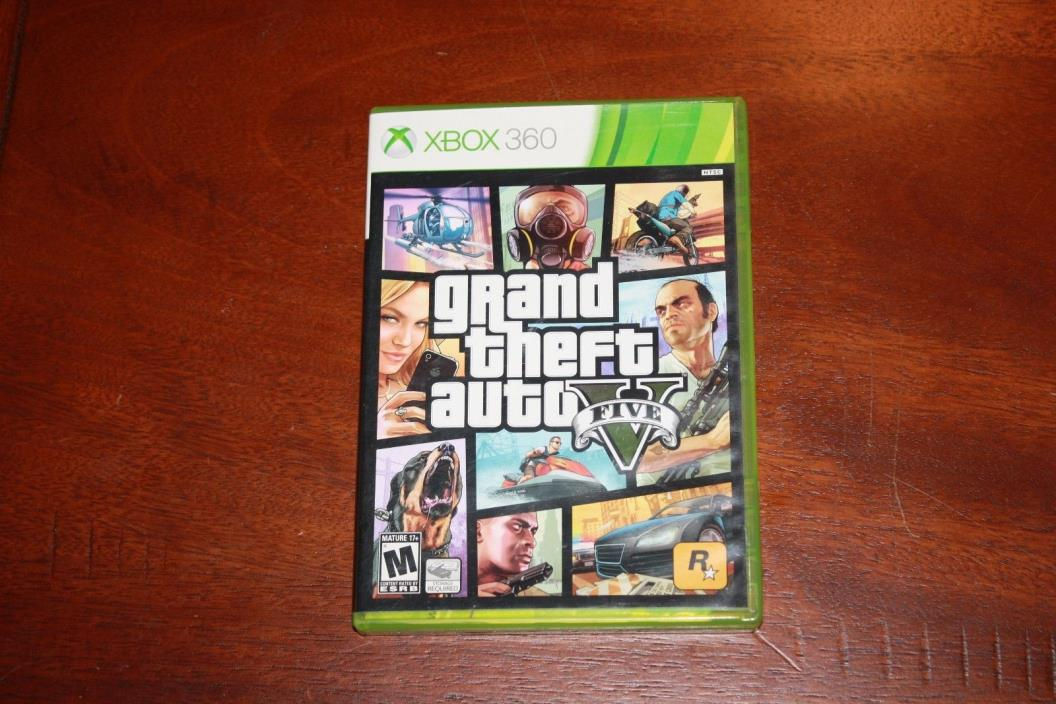 Grand Theft Auto V (Microsoft Xbox 360, 2013) Complete Works Great Fast Ship
