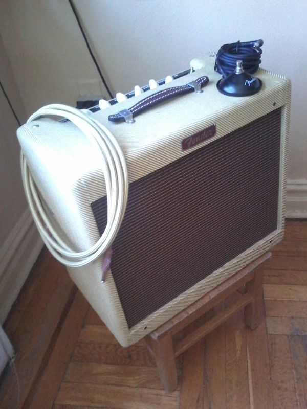 Fender Blues Jr. Tube Amp with Cable, Foot Switch & Custom Control Plate