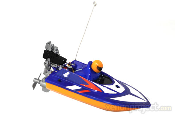 Mini Micro RC Speed Boat, Blue NEW