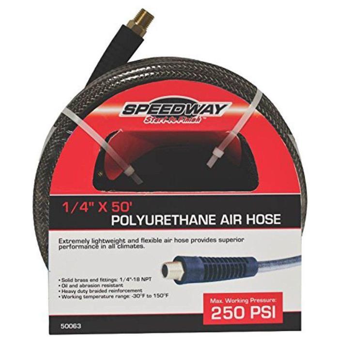 Speedway Polyurethane Air Compressor Pneumatic Hose Tool 1/4 Inch 50 Ft Flexible