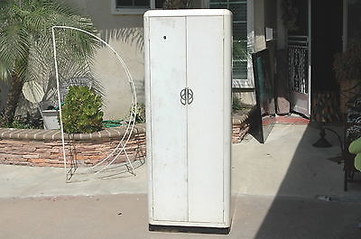 Mid century modern worley steel metal cabinet kitchen pantry garage storage