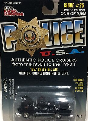 Shelton Police Connecticut 1957 Chevy Bel Air RACING CHAMPIONS FREE SHIPPING