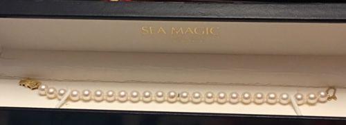 Authentic 18K 7 inch Mikimoto Sea Magic Pearl Bracelet  6.25mm