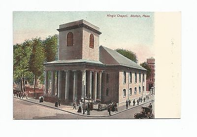 King's Chapel Boston, Undivided Back postcard
