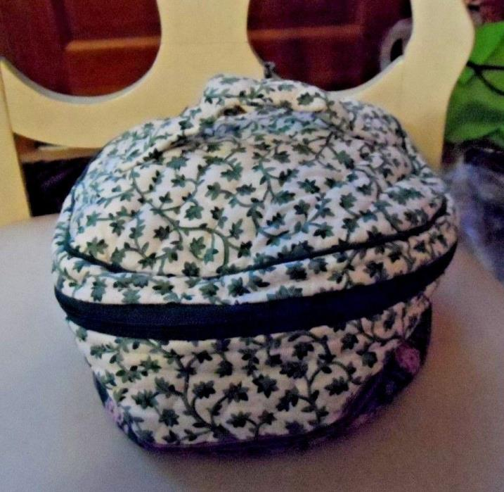 Vera Bradley Home and away round cosmetic bag in retired Lilac pattern