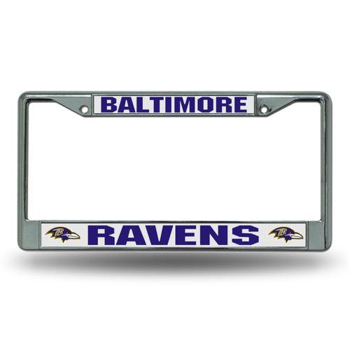 Chrome License Plate Frame - Baltimore Ravens