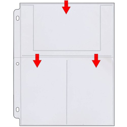 StoreSMARTÂ - Photo / Postcard Page for 3-Ring Binders - Archival-Safe Plastic