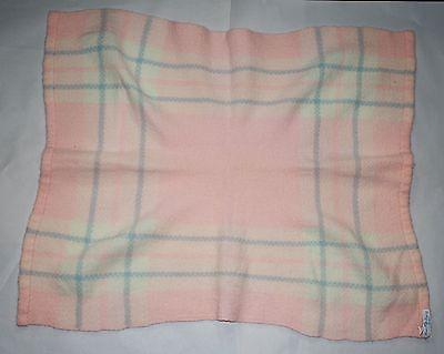 Churchill Handwoven vintage baby blanket Marshall Field & Company 31 x 24