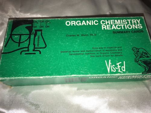 Organic Chemistry Reaction Summary Cards 1990 D521