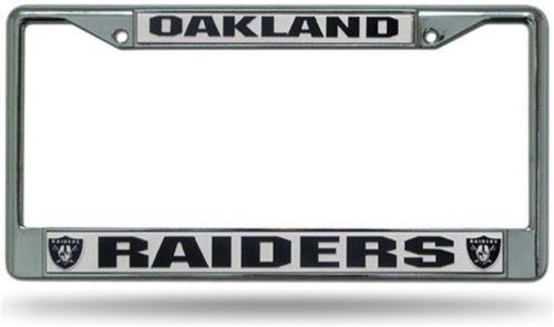 Chrome License Plate Frame - Oakland Raiders