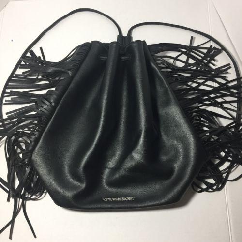 Victoria's Secret Women's 2015 Fashion Show Bag Backpack Faux Leather Fringe
