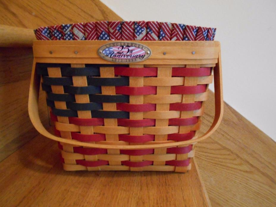 Longaberger 25th Anniversary Basket For Sale Classifieds