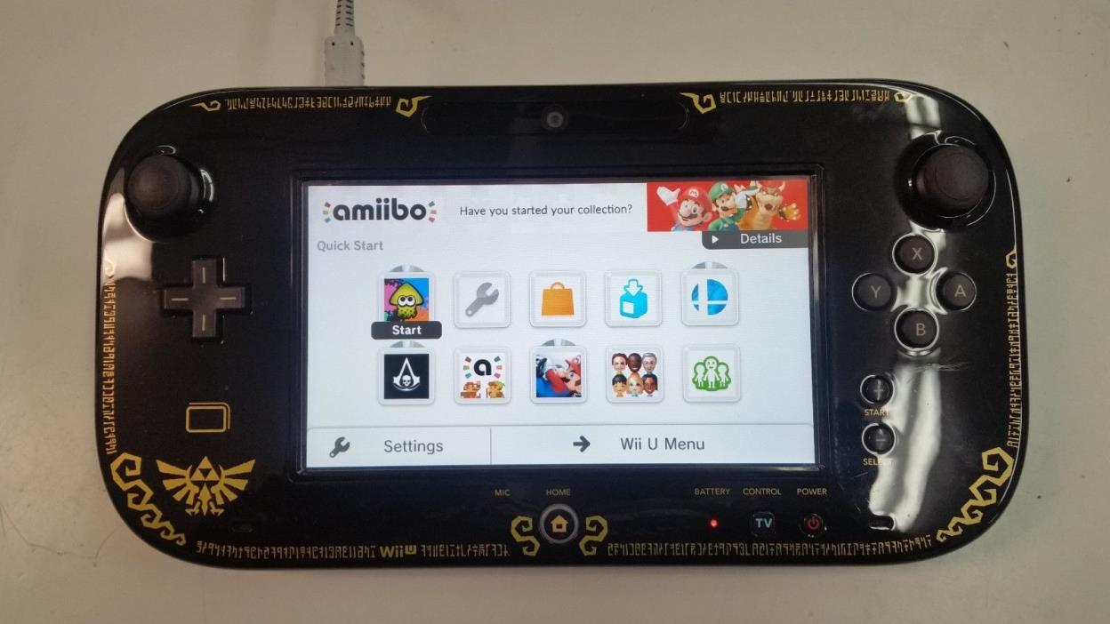 Nintendo WiiU Gamepad controller WUP-010Black