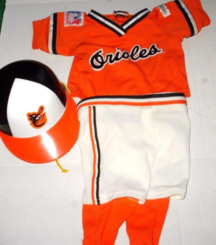 Cabbage Patch Doll Clothes -  Baltimore Orioles Baseball Outfit Vintage