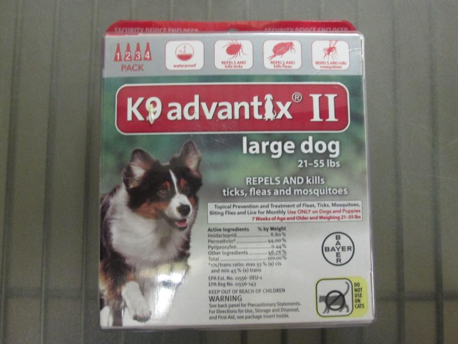 Bayer K9 Advantix II for Large Dogs 21-55 lbs New in Box Free Shipping