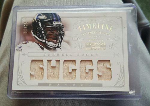 Terrell Suggs Ravens Panini Jersey Card 18/25