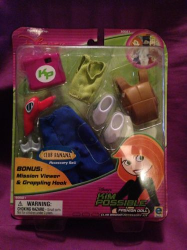 DISNEY Kim Possible Club Banana Accessory Kit-Brand New In Box