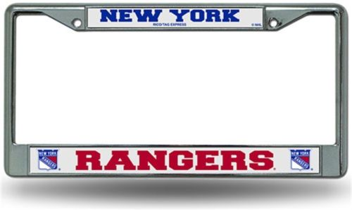 Chrome License Plate Frame - New York Rangers