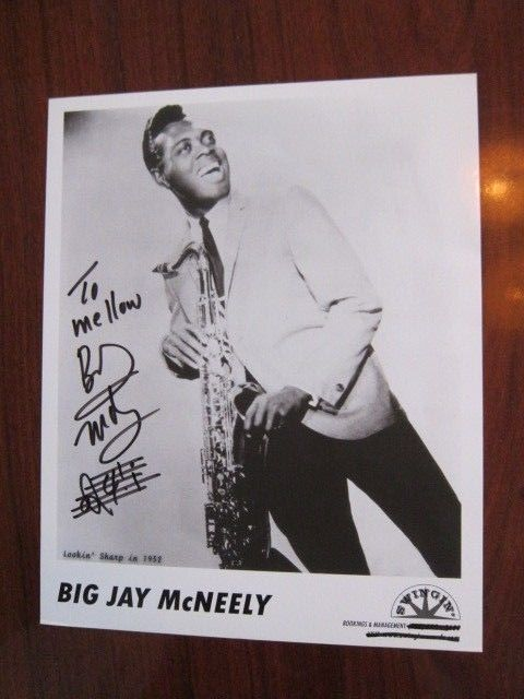 BIG JAY McNEELY  8x10  photo  AUTOGRAPHED