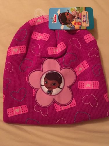 New Doc Mcstuffins Pink Knit Beanie Cap Hat Free Shipping Girls