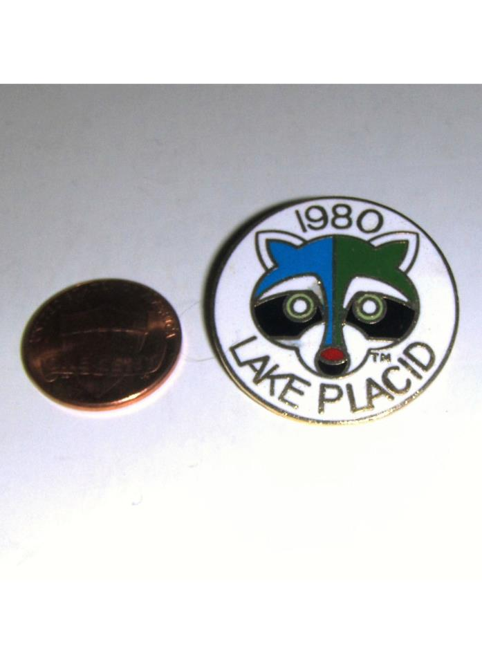 LAKE PLACID 1980 Winter Olympics Collectible Souvenir Lapel Pin