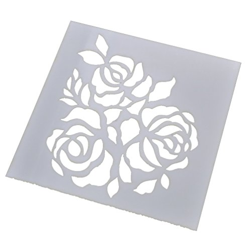 Lychee Graffiti Rose Wave Layering Stencils Template for Scrapbook Home Decor