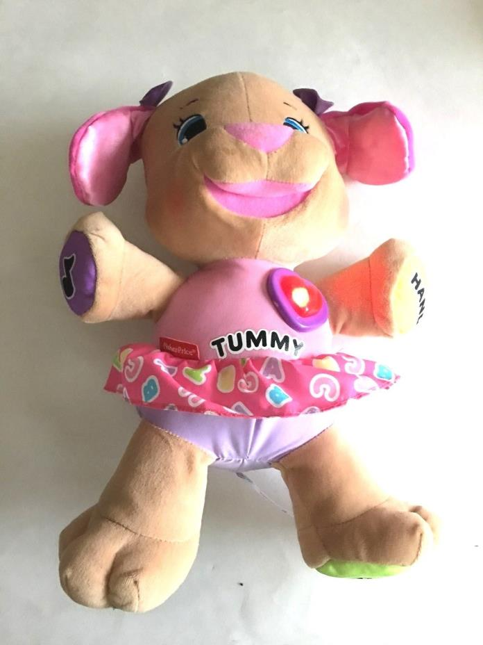 Fisher Price Plush Laugh and Learn Talking, Singing Pink Girl Puppy