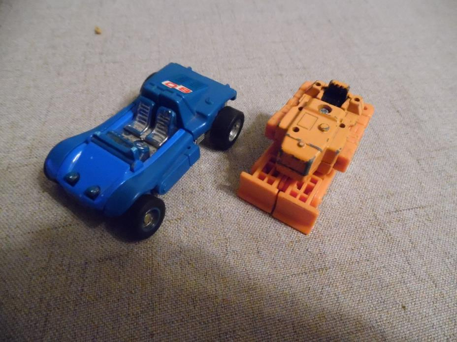 Vintage Mini Transformer Dune Buggy and Bull Dozer