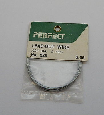 Perfect Lead-Out Wire 225  .027 DIA. 5 FT. R13109