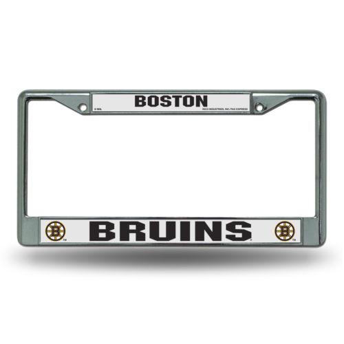 Chrome License Plate Frame - Boston Bruins