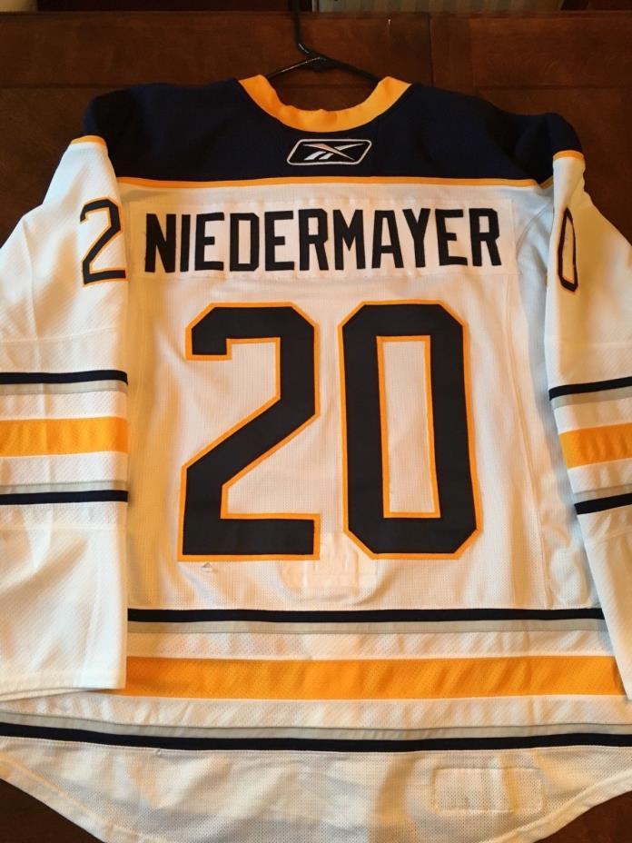 Rob Niedermayer 2010-2011 Buffalo Sabres Game Worn Away Jersey