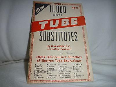 VINTAGE OVER 11,000 DIRECT TUBE SUBSTITUTES PAMPHLET / BOOKLET H.G. CISIN 1965