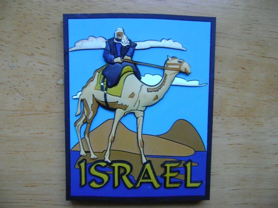 Israel 3D Fridge Magnet Bedouin on Camel Rubber 3