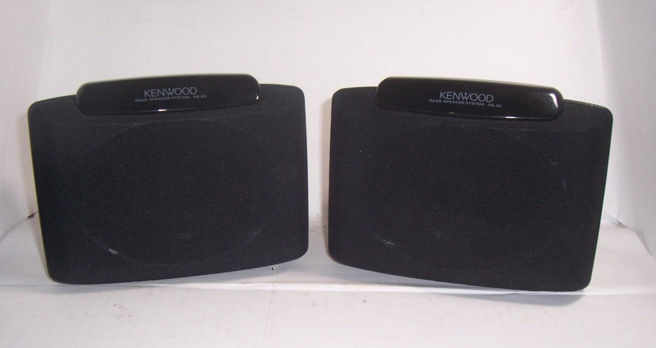 kenwood rs-03 40w 8 ohms full range speakers for crs-03 surround sound system