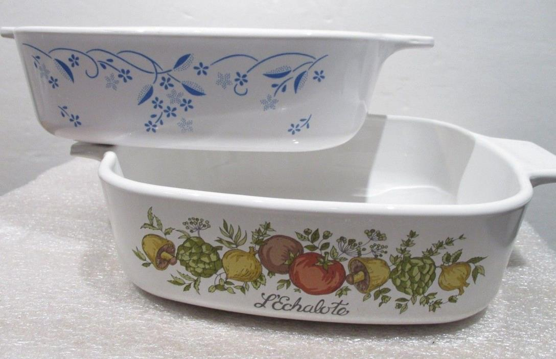 TWO   Corning Ware  A-1-B Dishes  NO LIDS