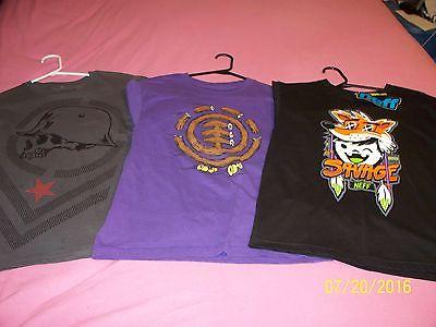Boy's T-Shirts Neff, Element, Metal Mulisha Size Large EUC