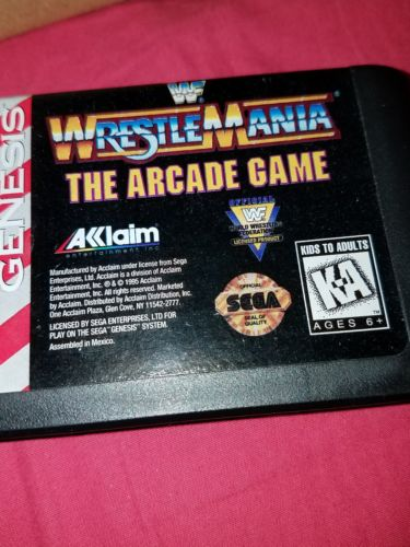 Sega Genesis wwf wrestling games x2