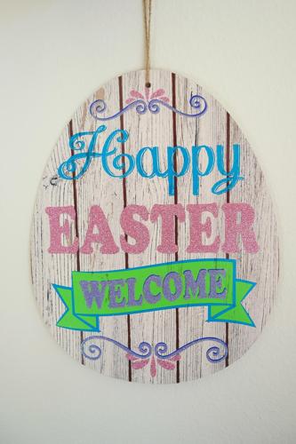 Glitter EASTER Egg Wall Door Hanging WREATH Decor 13'