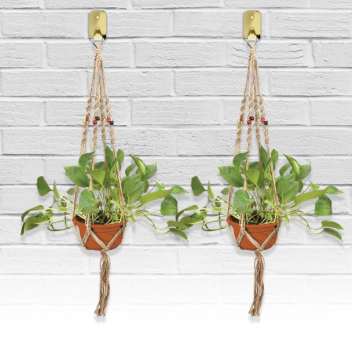 Indoor & Outdoor Decorative Flower & Plant Round & Square Pot Handmade Hanger &#