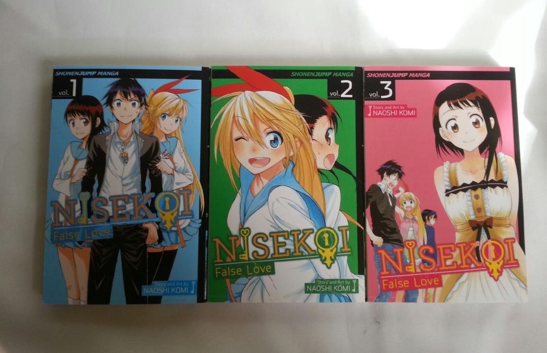NISEKOI: False Love Naoshi Komi Japanese Manga Series Volumes 1-3 ENGLISH