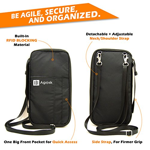 Travel Wallet & Passports Holder with RFID Blocking by AGILISK Offer Family