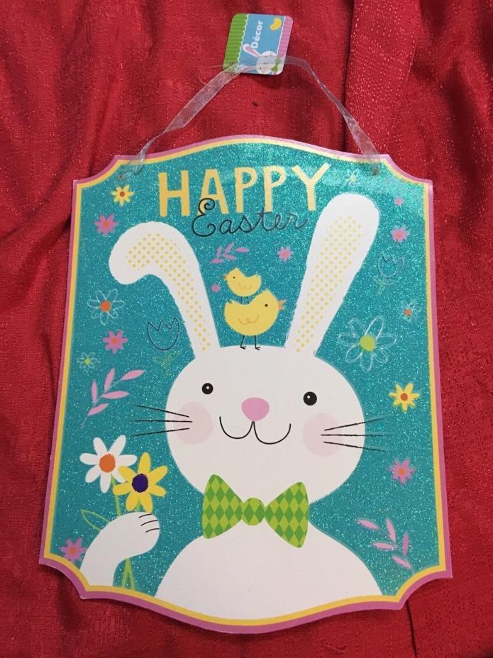 Happy Easter Wall Or Door Sign Hanging Decor 13x12