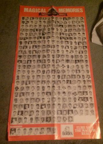 New York Mets Magical Memories 1962-1980 Poster Borden Milk SGA Ryan Mays HOF