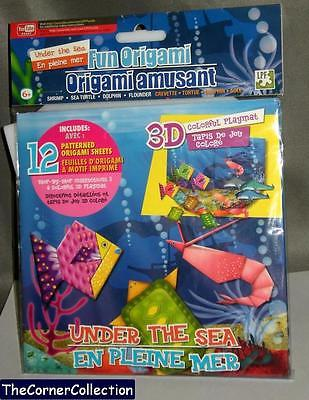 FUN ORIGAMI - UNDER THE SEA SET INCLUDES PLAYMAT INSTRUCTIONS & PRINTED PAPER