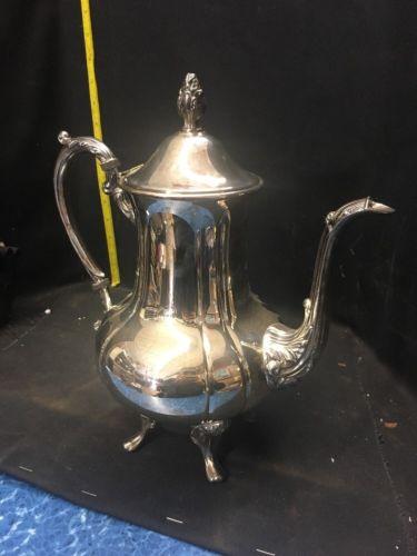 Vintage Ornate Silver Teapot