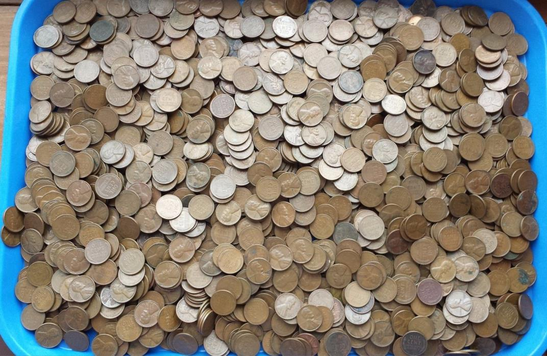 WHEAT CENTS - LOT OF 400, 1940's AND 50's LINCOLN WHEAT CENTS