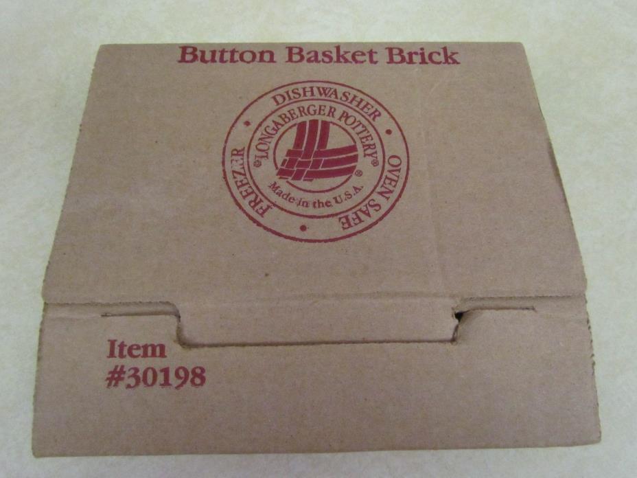 Longaberger Button Basket Brick ~ Mint in the Box!