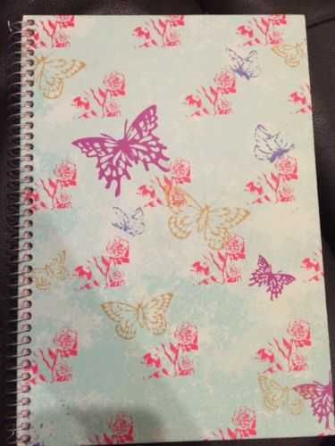 Staples Butterfly And Rose Notebook
