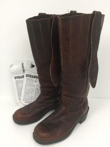 Durango Mens Calvary Reenactment Western Brown Leather Boots Mens Size 9.5