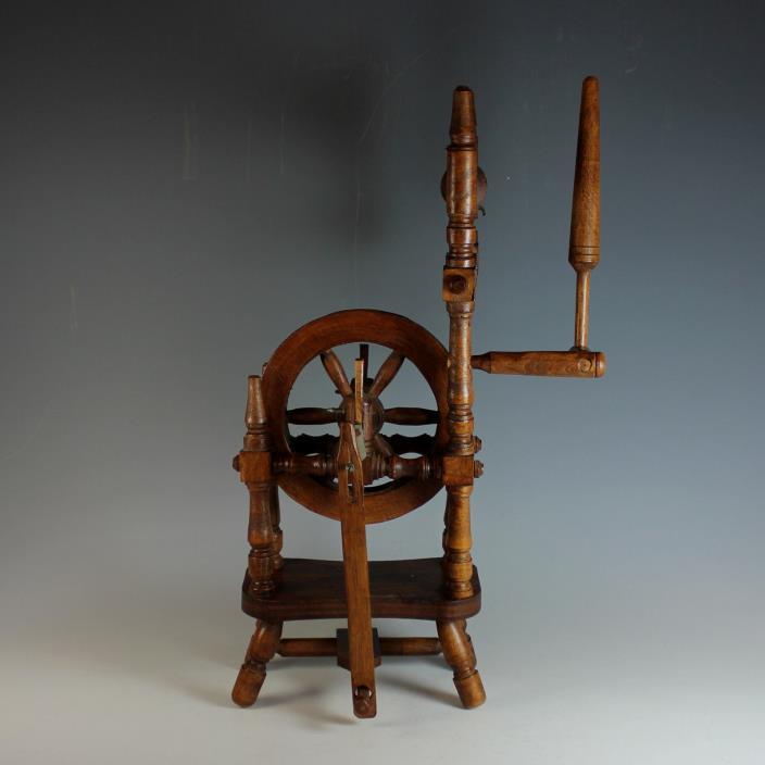 Antique Miniature Dutch Spinning Wheel